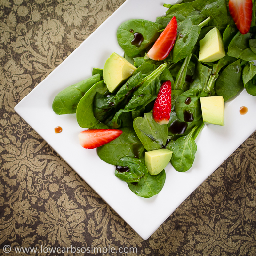 Strawberry, Spinach and Avocado Salad (Vegan) | Low-Carb, So Simple ...